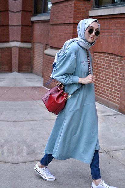 Zero Volanlı Elbise Mavi